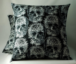Splintered skulls-pillow-gory gift-Stellar Evolution Designs
