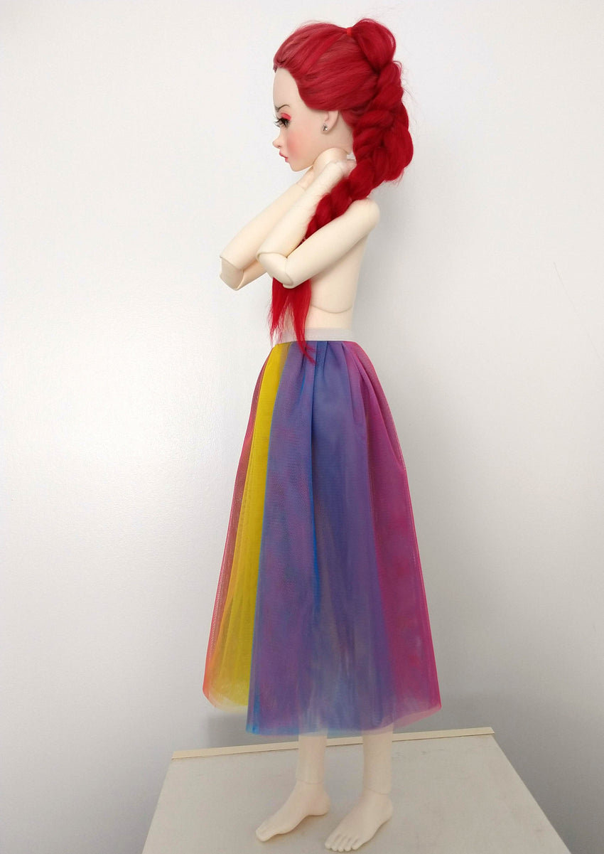 tulle skirt sd ball jointed dolls rainbow