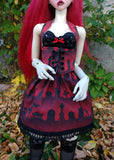 red cemetery vampire clothes set