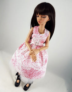 rose dress for minifee and msd bjd