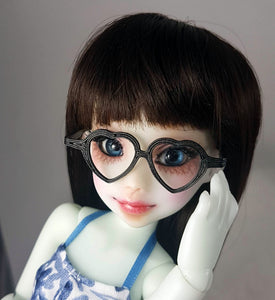 black heart glasses for small yosd bjds