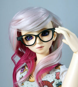 BJD SD Cat Eye Glasses - Black