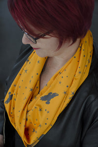 Serenity starfield scarf-handmade geekery for Browncoats-Stellar Evolution Designs