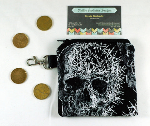 Splintered skulls-coin purse-gory gift-Stellar Evolution Designs