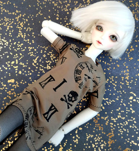 skull time oversized tshirt for msd bjd