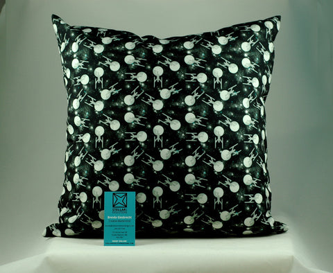 Enterprise pillow-handmade geekery-Stellar Evolution Designs