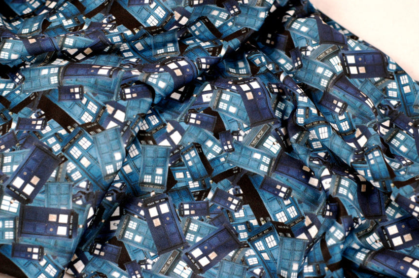 Tardis Collage Circle Scarf