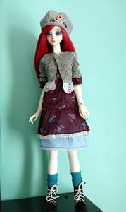 vintage bjd mori outfit handmade in canada