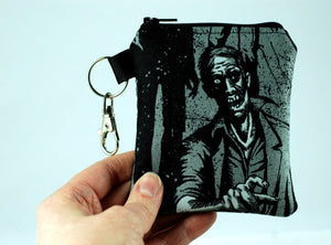 zombie coin purse-gory gifts-handmade gore accessories-stellar evolution designs