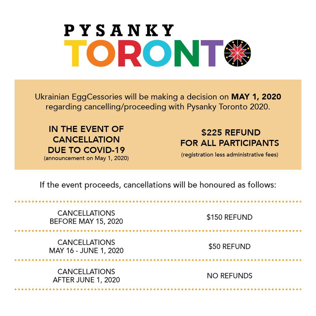 Pysanky Toronto Cancellation Policy