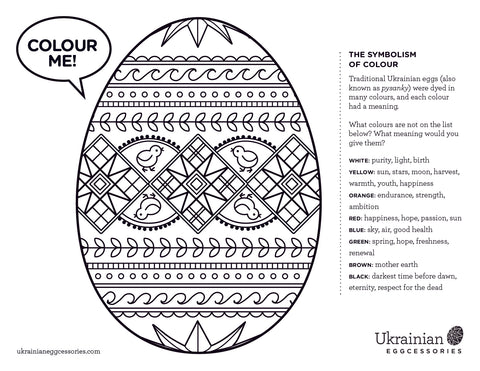ukraine eggs coloring pages - photo#31