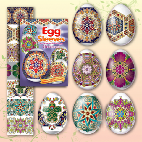 Egg Sleeves - Ornament Designs (Purple)