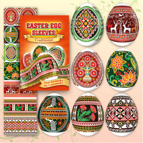 Egg Sleeves - Traditional Designs (poppy)
