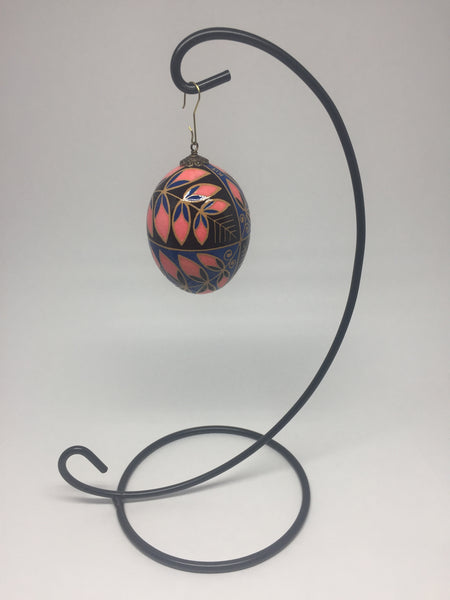Ornament Hanger for Pysanka - Ukrainian Easter Eggs - Black Metal