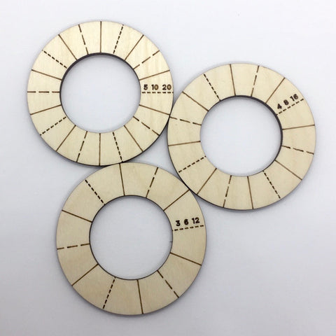 Divider Rings - (Accessory for craft lathe)