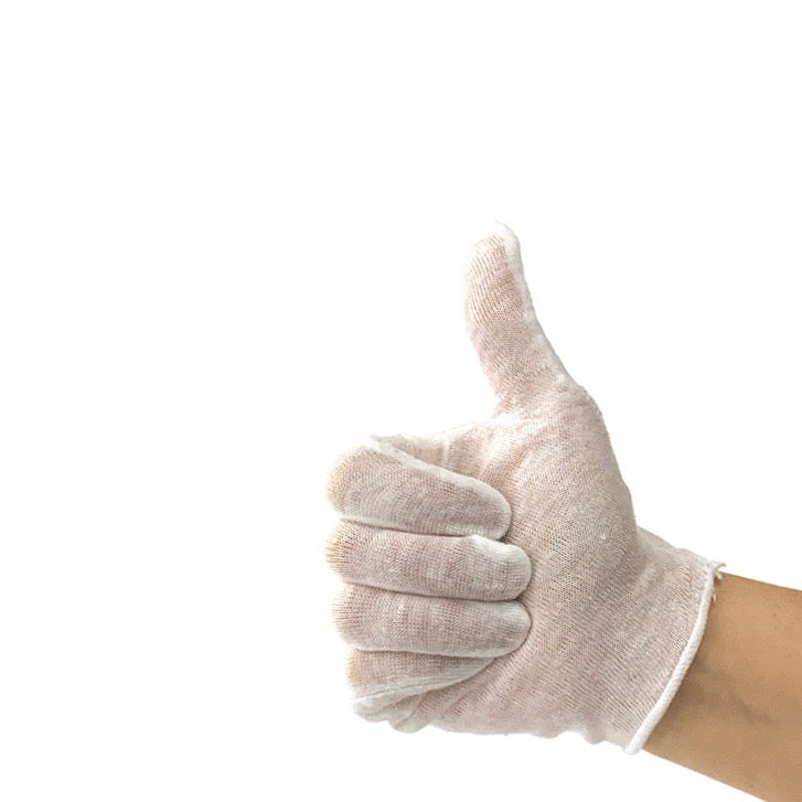 Gloves- Cotton Gloves White- Women's Medium One Pair