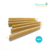 "Candle Sticks - 4"" Mini Taper Beeswax Candles 6Pcs"