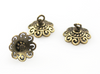 FILIGREE Egg top Findings for Pysanky - (Bronze & Silver) - 10mm - 10 pieces