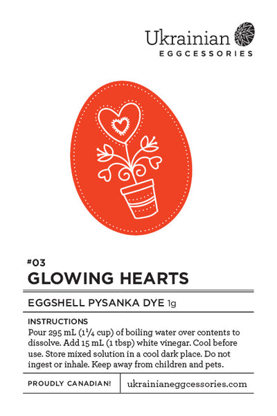 #03 Glowing Hearts Eggshell Pysanka Dye