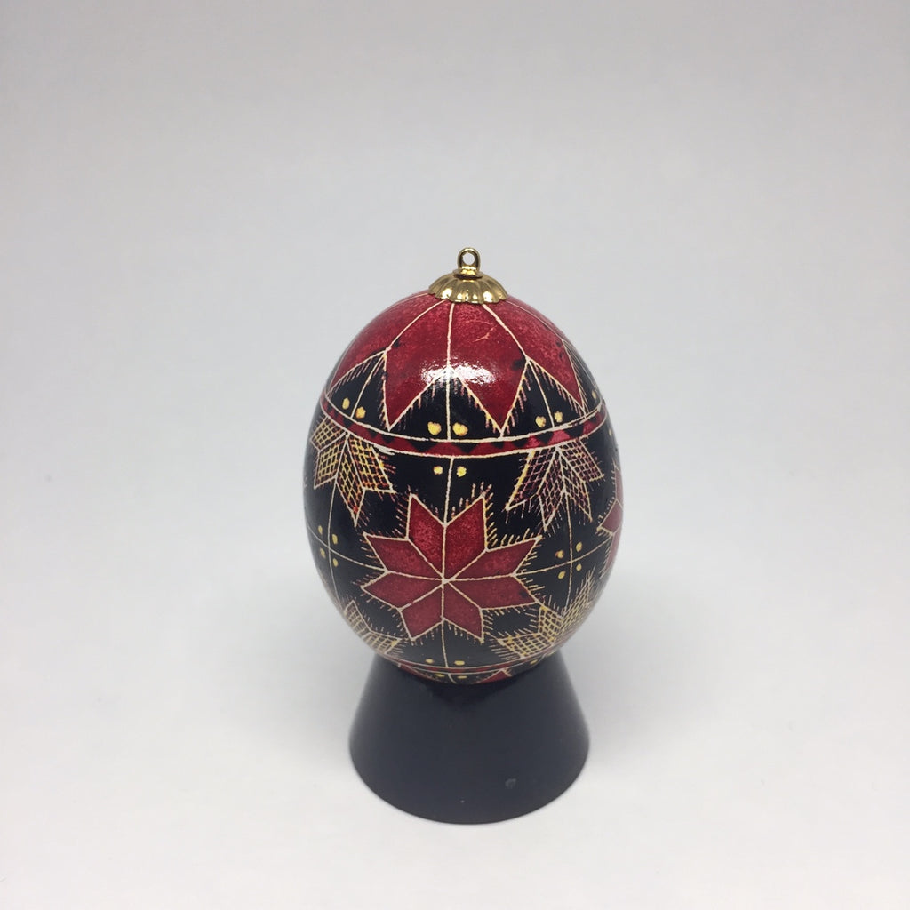 Egg Stand- Black Lucite Sphere Stand for Pysanky