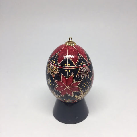 Egg Stand - black sphere for pysanky (Ukrainian Easter Eggs)