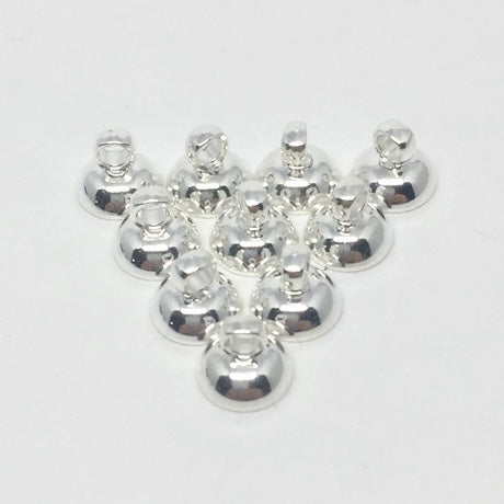 SIMPLE MINI Egg Top Finding for Pysanky - 6mm metal - 10 pieces