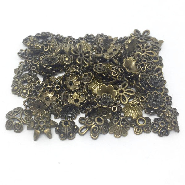 ASSORTED Egg Findings - Antique Bronze - 150 pieces