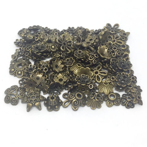 Findings- ASSORTED Egg Findings- Antique Bronze 150Pcs