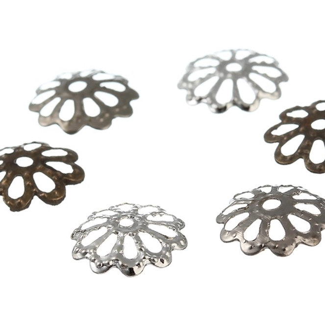 Findings- ZINIA Egg Finding- Silver, Gold, Bronze or Rhodium 8mm 10Pcs