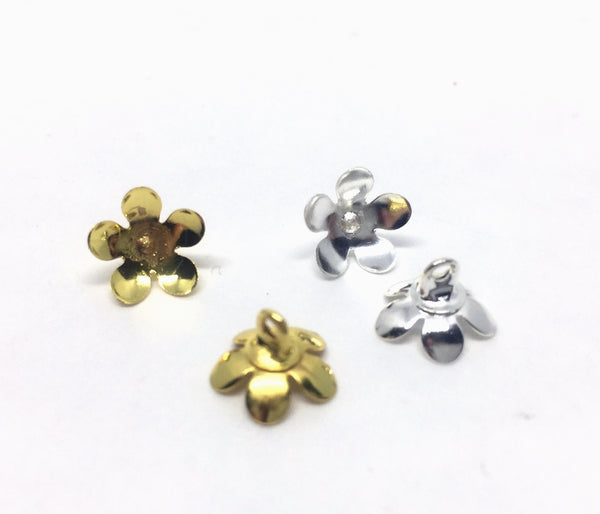 BLOSSOM Egg Top Findings for Pysanky - Silver or Gold Petals (8mm) - 10 pieces