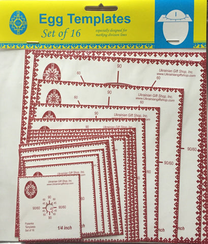 Egg Templates - Set of 16