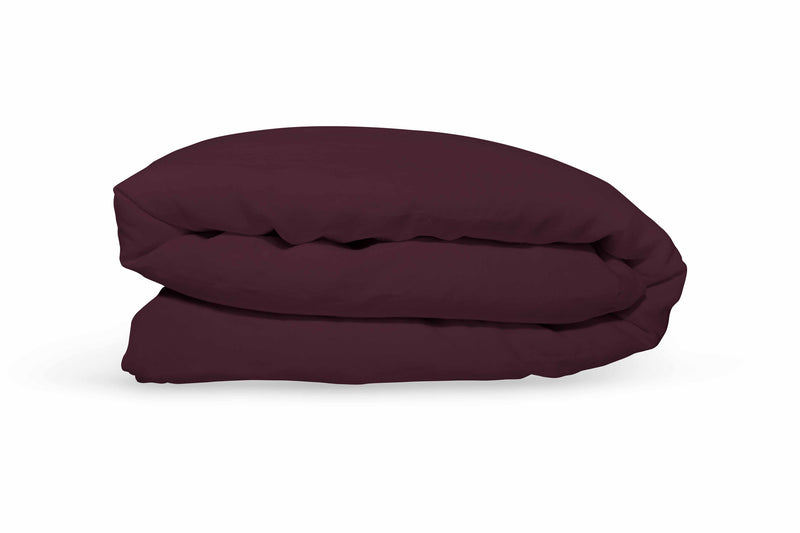 Pure Linen Quilt Cover - Black Cherry