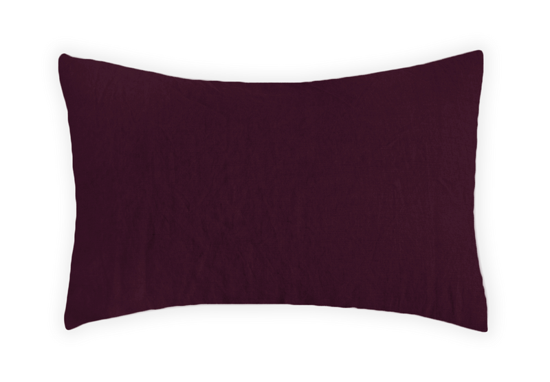 Linen Pillowcase - Black Cherry