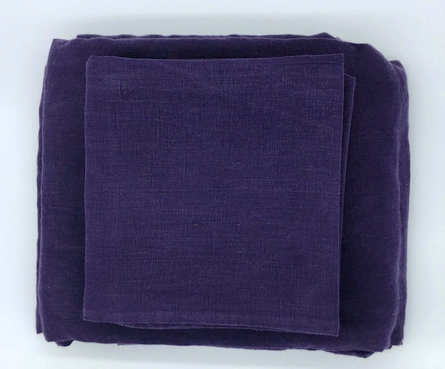 Linen Sheet Set - Power Berry