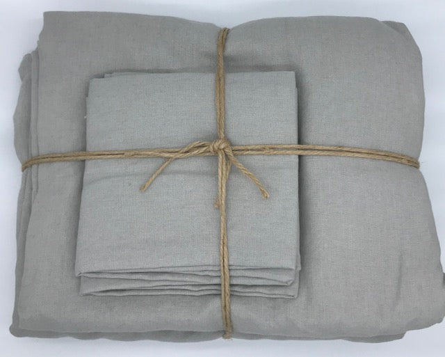 Linen Sheet Set - Smoke Grey