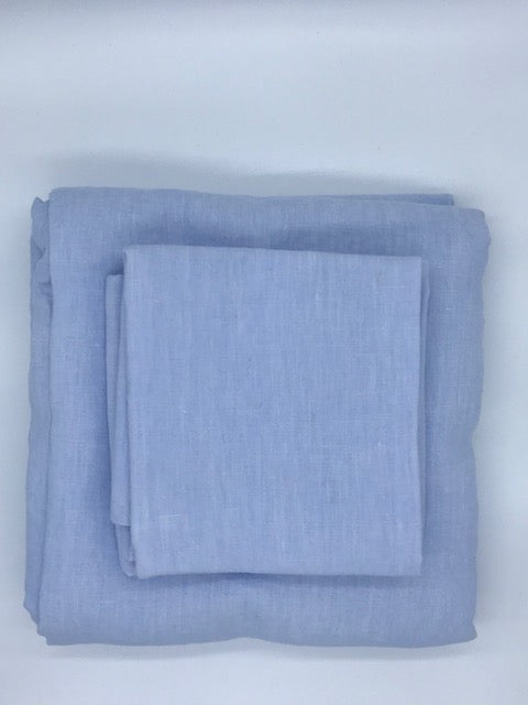 Linen Sheet Set - Ice Blue
