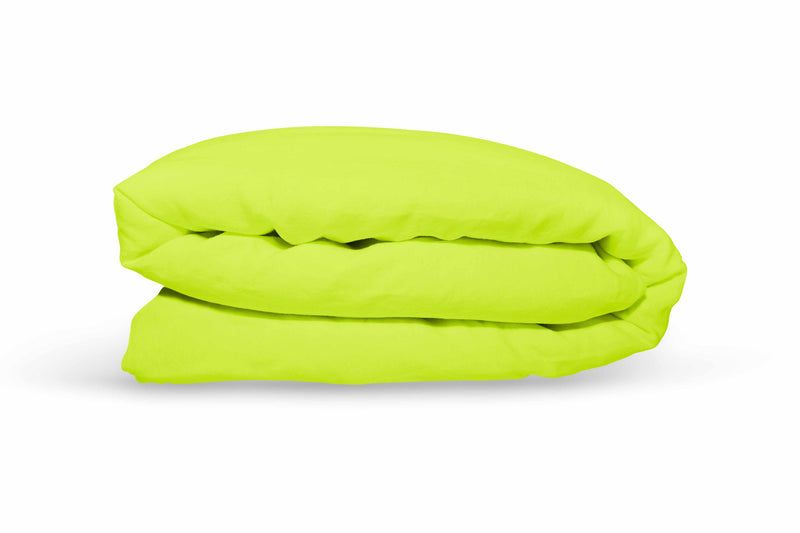 Pure Linen Quilt Cover - Lime Squeeze