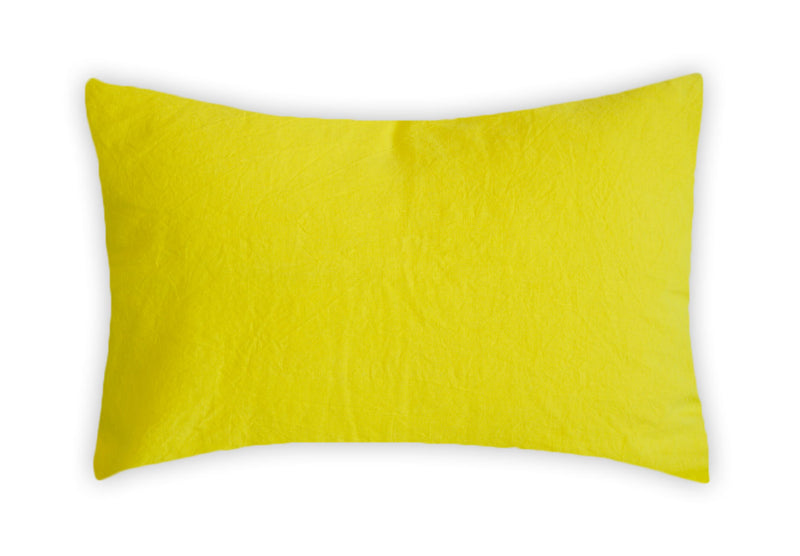 LInen Pillowcase - Vibrant Yellow