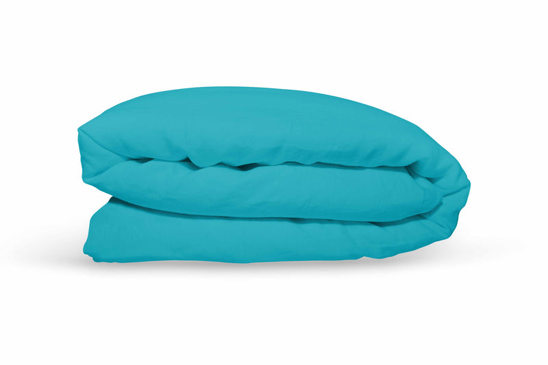 Pure Linen Quilt Cover - Turquoise