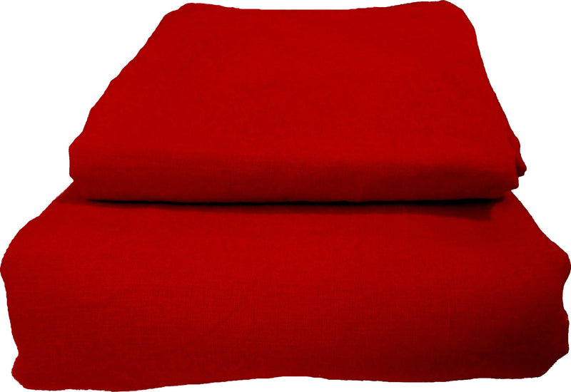 Pure Linen Quilt Cover Set - Apple Red