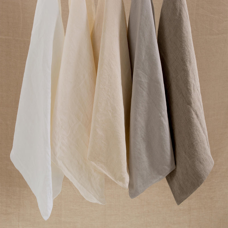 Linen Flat & Fitted Sheet - Natural