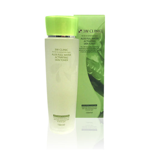 3W CLINIC Aloe Full Water Activating Skin Toner - 150ml