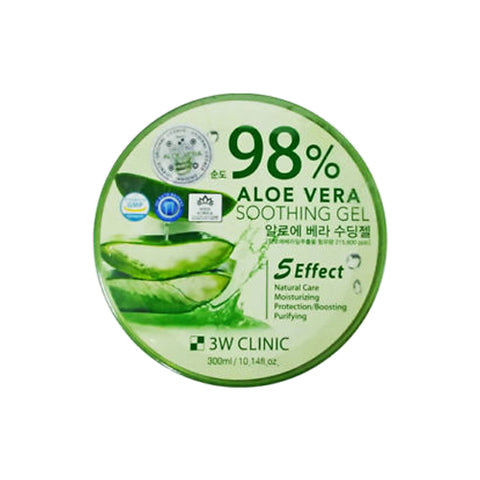 3W CLINIC  Aloe Vera Soothing Gel 98% - 300ml