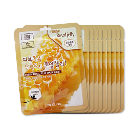 3W CLINIC / Fresh Mask Sheet - 10pcs (In Stock)