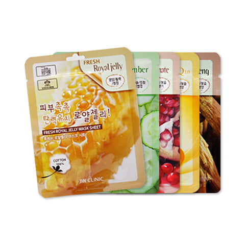 3W CLINIC  Fresh Mask Sheet - 10pcs