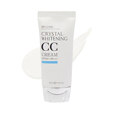 3W CLINIC / Crystal Whitening CC Cream - 50ml (SPF50+ PA+++)