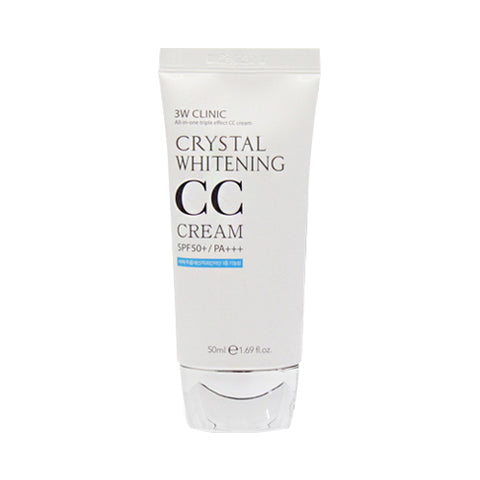 3W CLINIC  Crystal Whitening CC Cream - 50ml (SPF50+ PA+++)