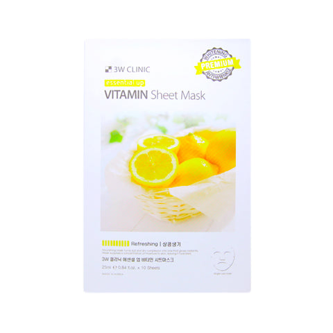 3W CLINIC / Essential Up Sheet Mask - 1pack (10pcs)