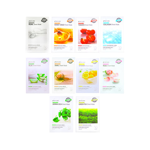 3W CLINIC  Essential Up Sheet Mask - 1pack (10pcs)