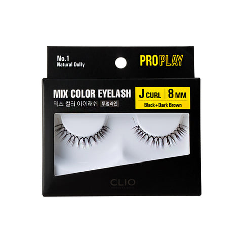 CLIO  Pro Play Mix Color Eyelash - 1pcs (01~06)